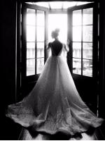 Свадебное платье А силуэт расшитое паетками арт. 0369