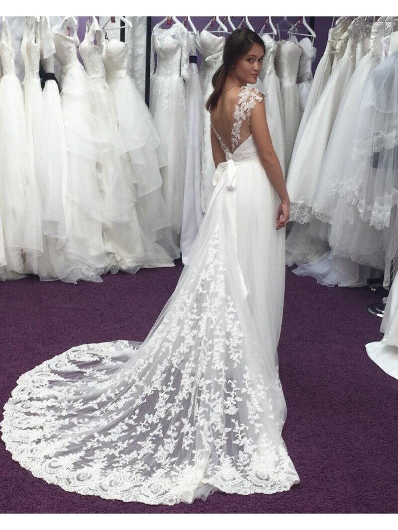 Пошив свадебного платья греческого с втачным шлейфом