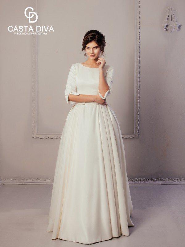 Пышное свадебное платье с бантом Orian 824