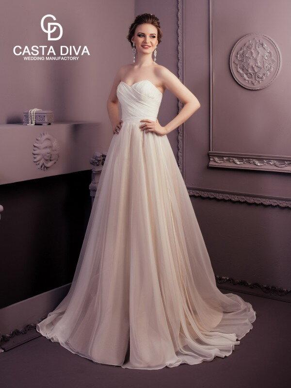 Цветное свадебное платье Deni 0119m