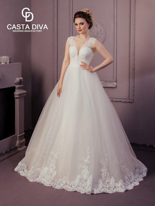 Пышное свадебное платье для полных Mila 120a
