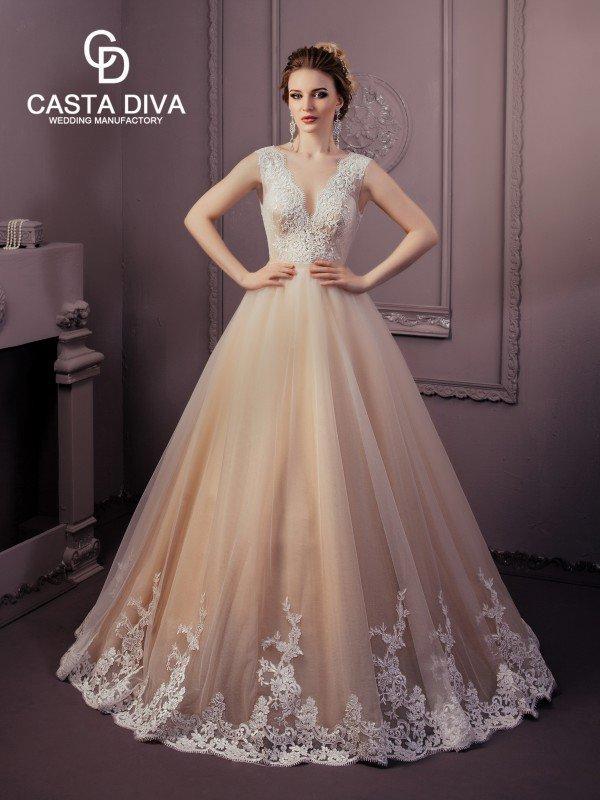 Пышное свадебное платье для полных Mila 120m