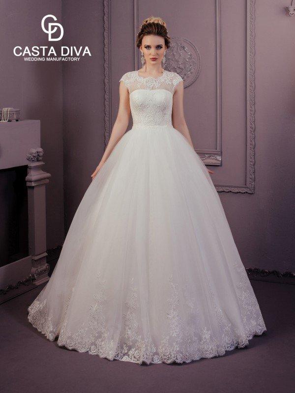 Пышное свадебное платье для полных Jin 0123a