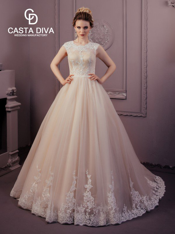Пышное свадебное платье для полных Jin 0123m