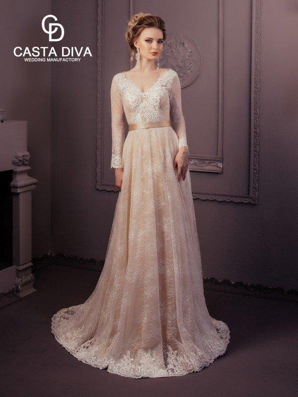 Открытое свадебное платье с рукавами Aliz 0211m