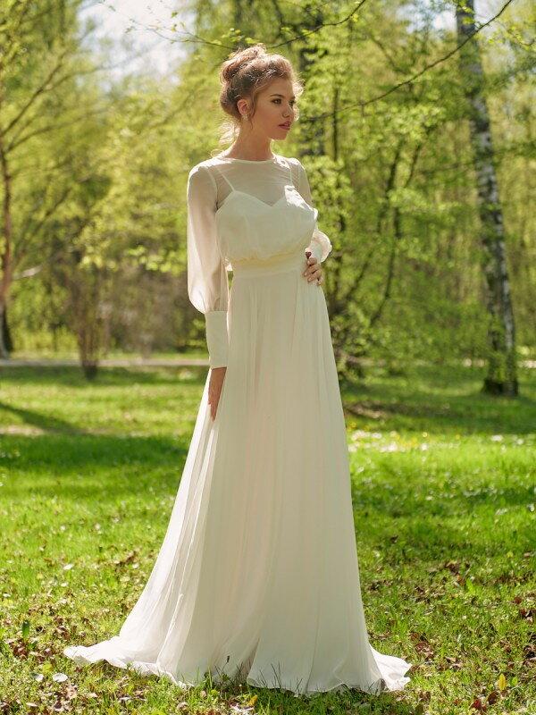 Строгое свадебное платье Cara 0125