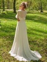 Закрытое свадебное платье с рукавами в стиле ампир