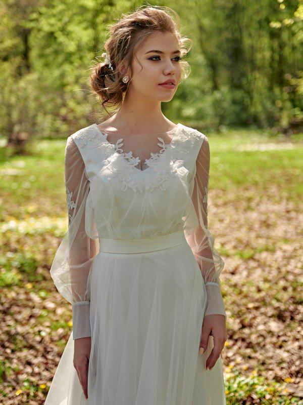 Свадебное платье рустик 322a
