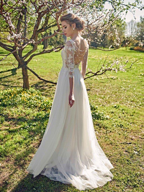 Свадебное платье с рукавами Floret 569