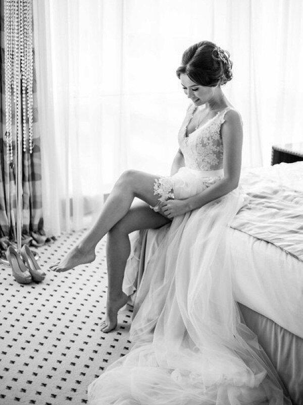 Пошив облегченного свадебного платья