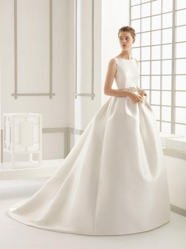 Строгое свадебное платье 0231a