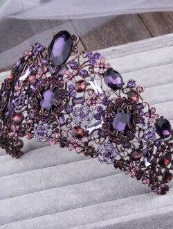 Шикарный аксессуар для невесты диадема с камнями арт. 2241