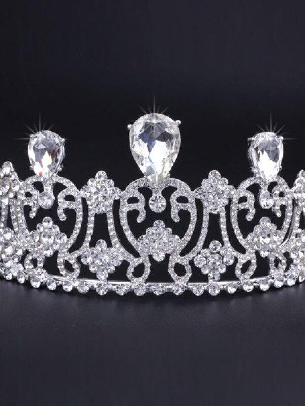 Аксессуар для невесты диадема с большими камнями арт. 2242