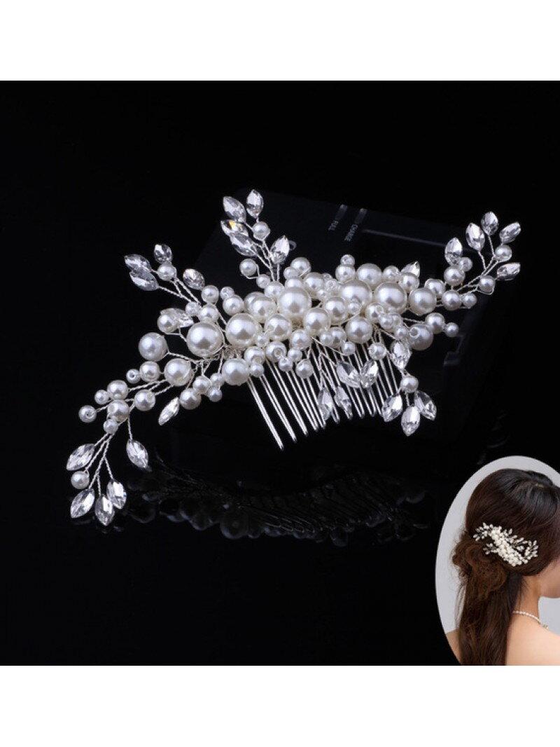 Аксессуар для невесты гребешок с жемчугом арт. 2243