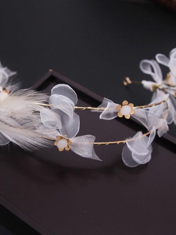 Аксессуар для невест с перышками арт. 2246
