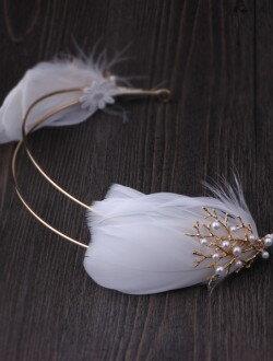 Аксессуар для невесты с перышками арт. 2247