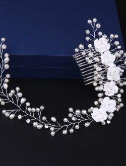 Аксессуар невесты гребешок с жемчугом арт. 2248