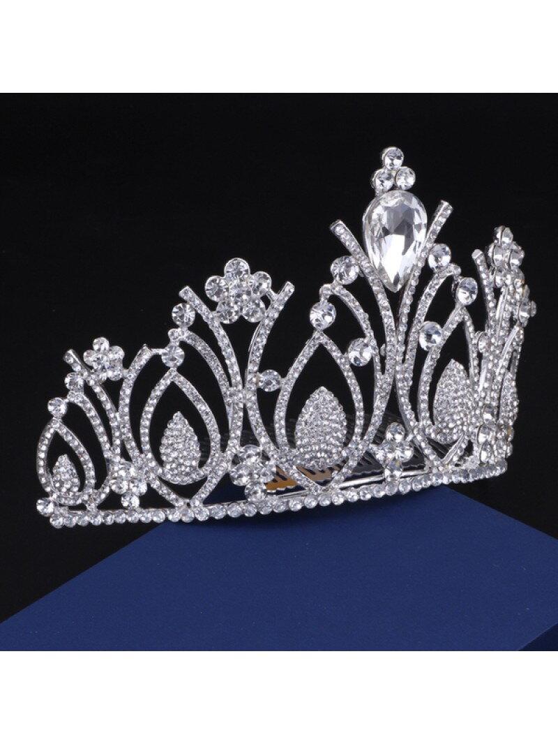 Аксессуар невесты высокая корона с камнями арт. 2249
