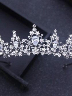 Аксессуары для невест диадема с кристаллами арт. 2253