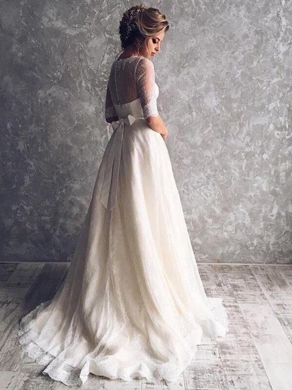 Необычное свадебное платье с рукавами Samanta 354a