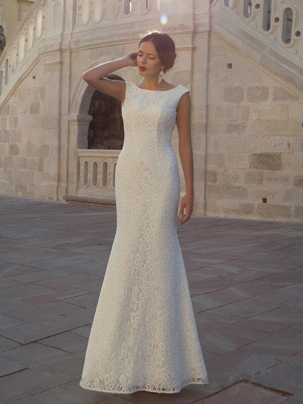 Открытое свадебное платье с бантом 0221a