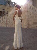 Полностью кружевное свадебное платье рыбка с открытой спиной арт. 0221