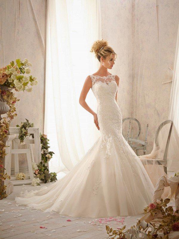Открытое свадебное платье 070a