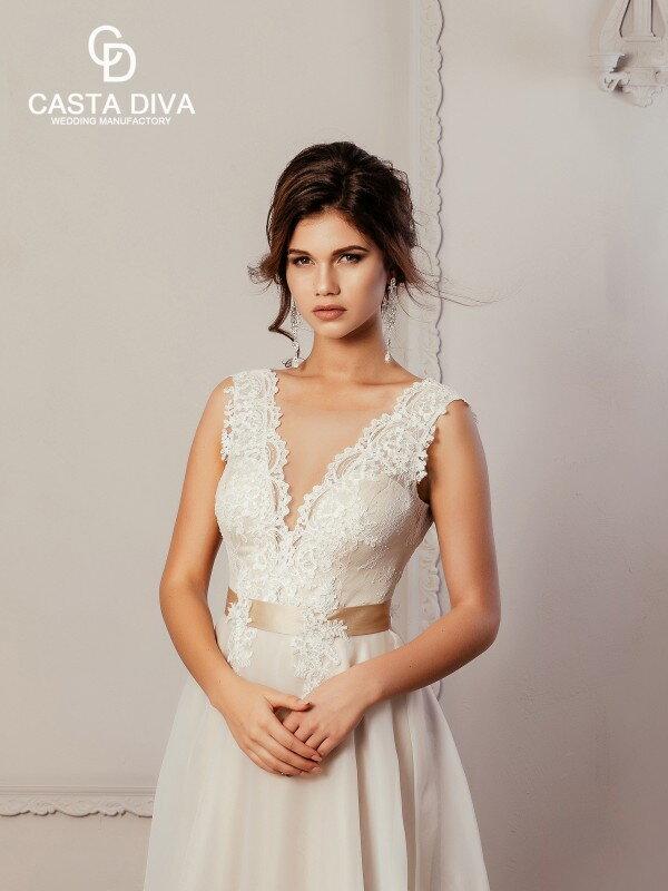 Цветное свадебное платье Dora 479m