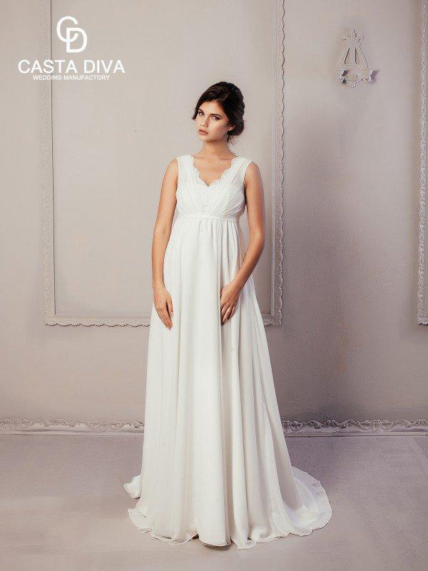 Открытое свадебное платье с кружевом Rozet 879