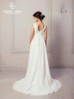 Греческое свадебное платье с небольшим шлейфом арт. 879