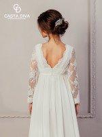 Свадебное платье ампир с рукавами арт. 979
