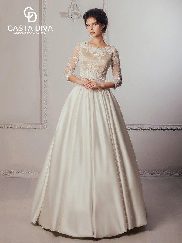 Необычное свадебное платье с рукавами Mary 465m