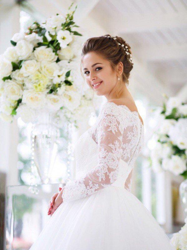 Свадебное платье с рукавами Neo 250