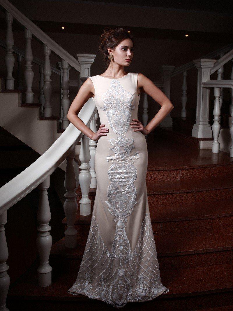 Свадебное платье рыбка с кружевом арт. 281