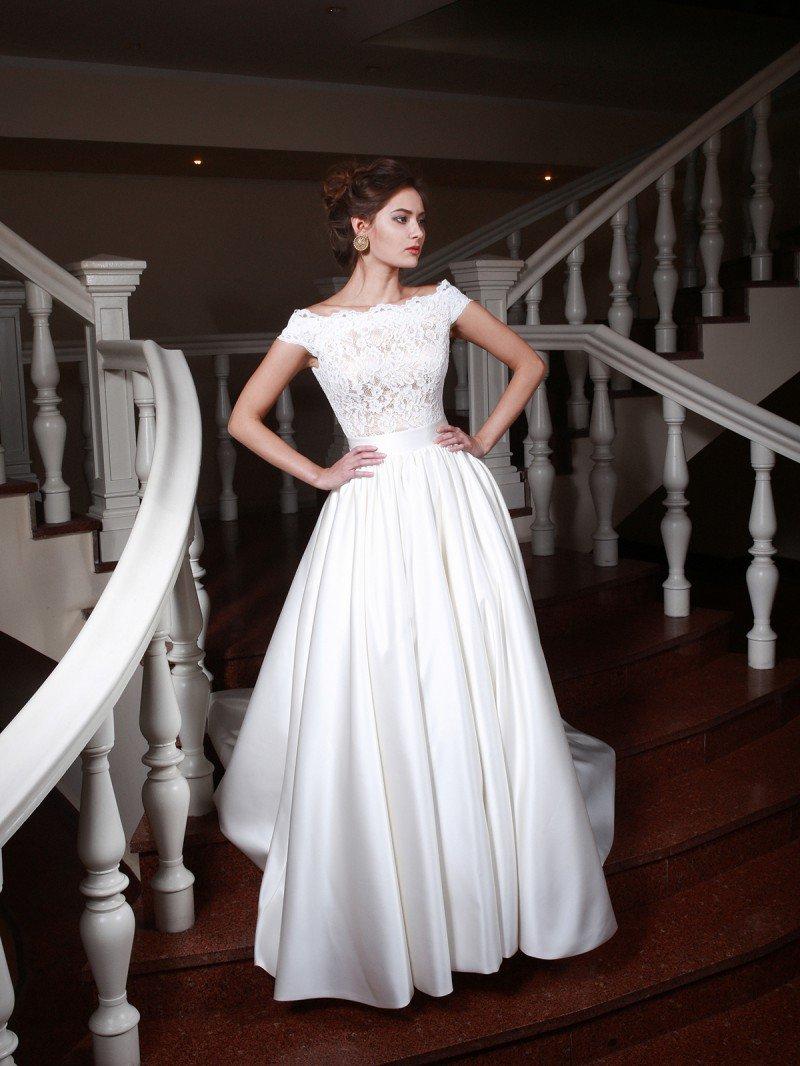 55eb230f27c689 Свадебное платье трансформер со съемной юбкой из атласа. Купить в ...