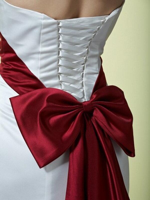 Атласный пояс для свадебного платья