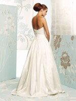 Свадебное платье из атласа с карманами арт. 470