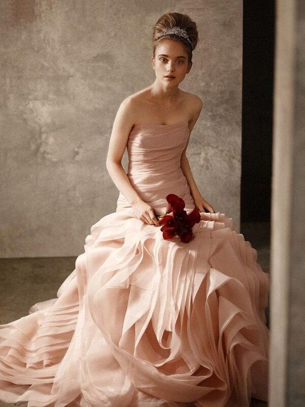 Открытое свадебное платье 496