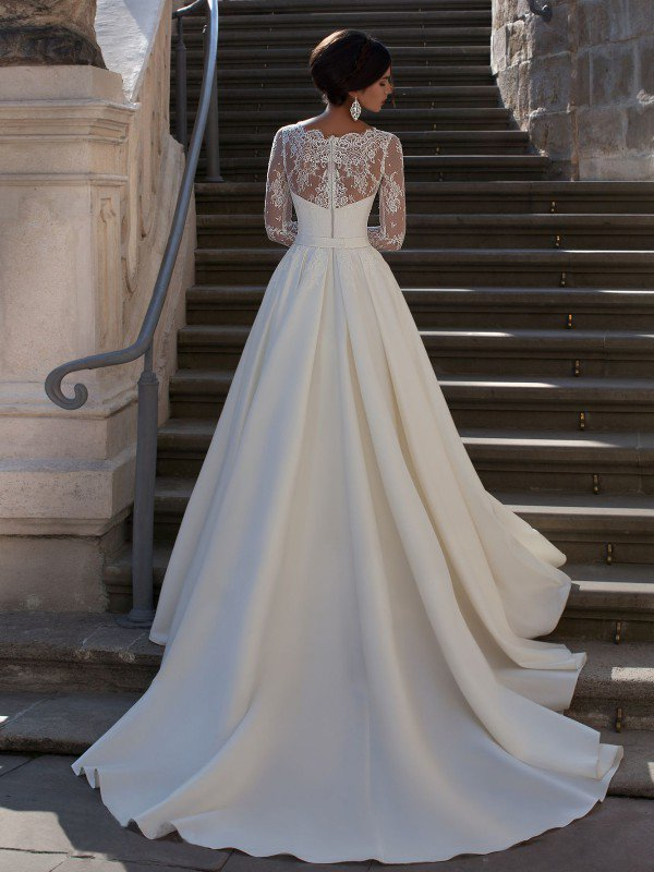Свадебное платье с рукавами 0224a