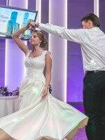 Индивидуальный пошив атласного свадебного платья
