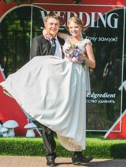Пошив простого атласного свадебного платья