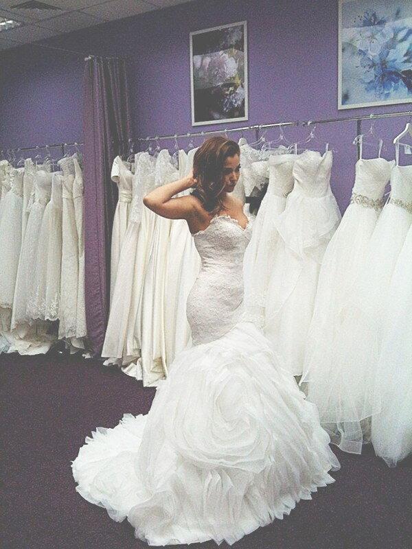 Пошив свадебного платья русалка в стиле Вера Вонг