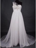 Пошив простого свадебного платья со сложной ручной расшивкой камнями