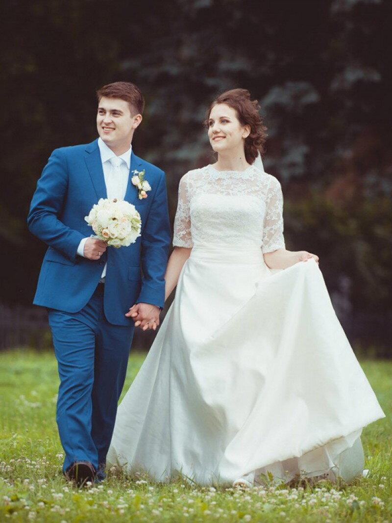 Пошив закрытого свадебного платья