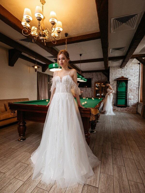 Открытое свадебное платье Shedir 571a