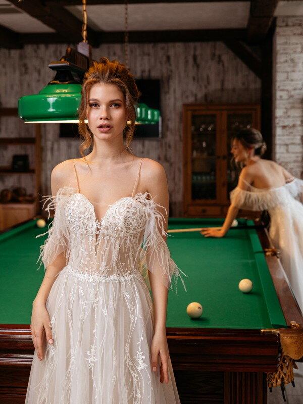 Открытое свадебное платье Shedir 571m