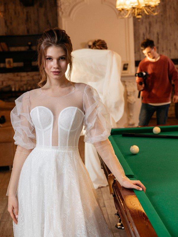 Мерцающее свадебное платье Miram 730