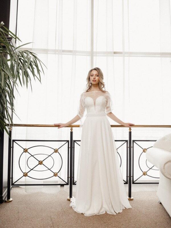 Недорогое А силуэтное свадебное платье Prima 450