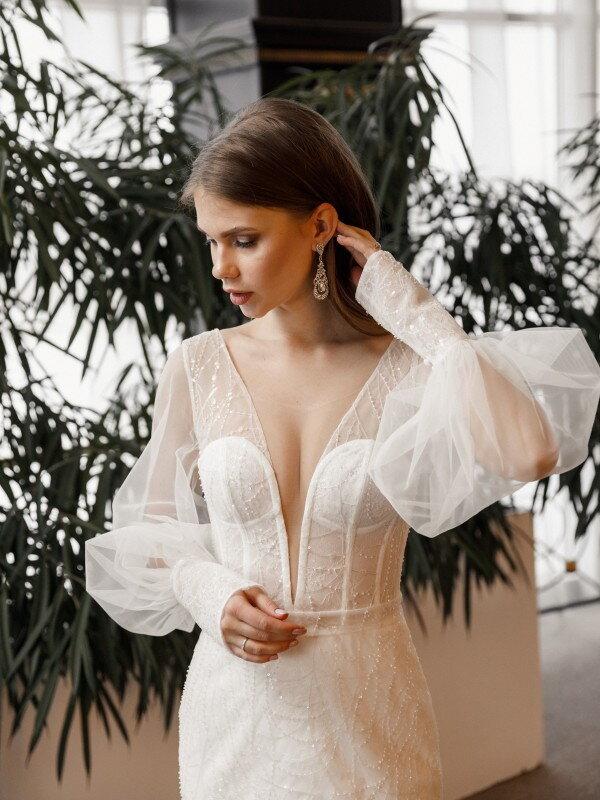 Свадебное платье со шлейфом Alia 740