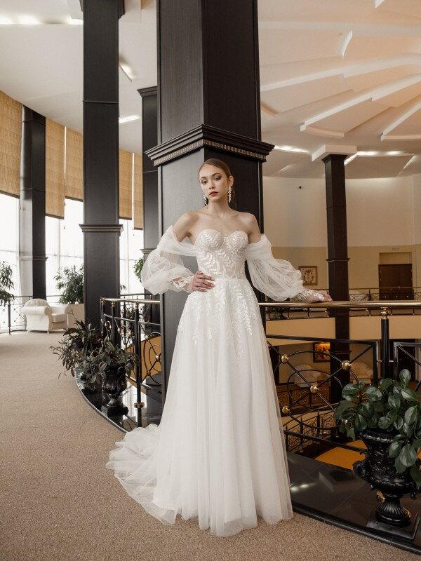 Мерцающее свадебное платье Omega 762